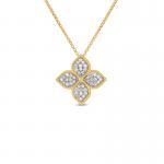 Roberto Coin Princess Flower Large Pendant with Diamonds