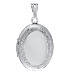 STERLING SILVER MILGRAIN EDGE LOCKET