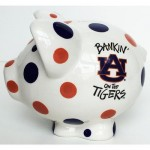 Auburn Polka Dot Piggy Bank