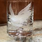 Etched Eagle Single Malt Rocks Glass