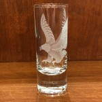 Etched Eagle Shot Glass