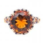 Orange and Blue Spirit Ring in Rose Gold