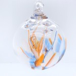 Handblown Auburn Swirl Glass Ornament