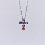CUSTOM ORANGE AND BLUE CROSS