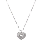 .50ct Diamond Pave Heart Pendant with Chain