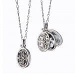 Oval Gate Locket with Sapphires