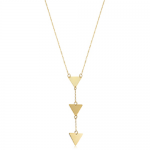 14K Yellow Gold Triangle Drop Necklace