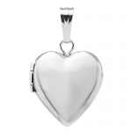 STERLING SILVER HEART SHAPED LOCKET