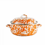 4 QUART ORANGE SWIRL DUTCH OVEN