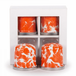 ORANGE SWIRL SALT & PEPPER SHAKERS