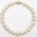 7-7.5MM FRESH WATER PEARL BRACELET 14KY