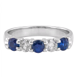 .40ct Diamond and Blue Sapphire Band 14KW