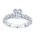 0.30ct Round Diamond Engagement Ring in 14K White Gold