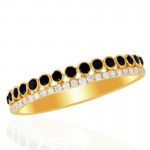 14K Yellow Gold Black Diamond Ring