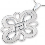 STERLING SILVER DOUBLE CUT OUT PENDANT