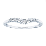 0.42ct Round Diamond Wedding Band in 14K White Gold