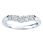 1.00ct Round Diamond Wedding in 14K White Gold