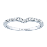 0.24ct Diamond Wedding Ring in 14K White Gold