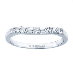 0.30ct Diamond Wedding Ring in 14K White Gold
