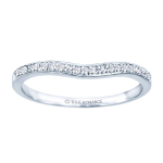 0.25ct Round Diamond Wedding Ring in 14K White Gold