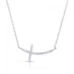 .20ct Diamond Cross 14K White Gold.