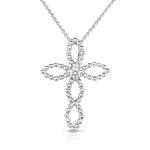 .05ct Diamond Cross 14K White Gold.
