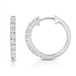 .48Dia French Hoop Earrings 14KW