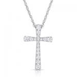 .48ct Diamond Cross 14K White Gold.