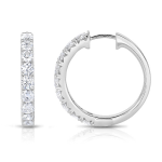 1.52Dia Hoop Earrings 14KW