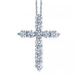 1.50ct Diamond Cross 14K White Gold.