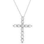 2.00ct Diamond Cross 14K White Gold.