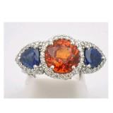 Orange and Blue Auburn Tiger Ring