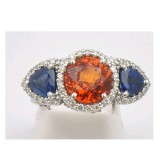 Orange and Blue Auburn Tiger Ring