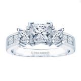 0.35ct Princess Diamond Remount Ring in 14K White Gold