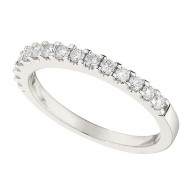 Wedding Band featuring 15 Round Brilliant Diamonds with 0.38ctw in White Gold