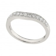 Wedding Band featuring 13 Round Brilliant Diamonds with 0.34ctw in White Gold