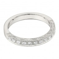 Wedding Band featuring 13 Round Brilliant Diamonds with 0.24ctw in White Gold