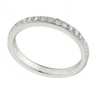 Wedding Band featuring 19 Round Brilliant Diamonds with 0.24ctw in White Gold