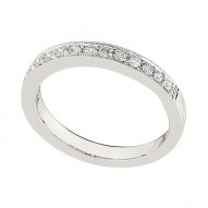 Wedding Band featuring 15 Round Brilliant Diamonds with 0.25ctw in White Gold
