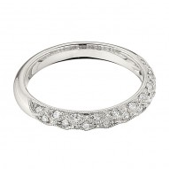 Wedding Band featuring 29 Round Brilliant Diamonds with 0.22ctw in White Gold