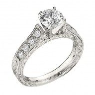 Engagement Ring featuring 8 Round Brilliant Diamonds with 0.24ctw in White Gold