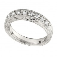 Wedding Band featuring 9 Round Brilliant Diamonds with 0.27ctw in White Gold