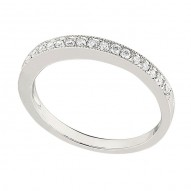Wedding Band featuring 20 Round Brilliant Diamonds with 0.17ctw in White Gold