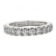 Wedding Band featuring 12 Round Brilliant Diamonds with 1.05ctw in White Gold