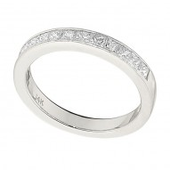 Wedding Band featuring 14 Princess Cut Diamonds with 0.70ctw in White Gold
