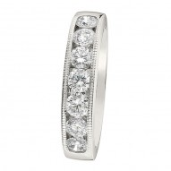 Wedding Band featuring 7 Round Brilliant Diamonds with 0.94ctw in White Gold