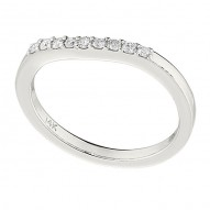 Wedding Band featuring 9 Round Brilliant Diamonds with 0.14ctw in White Gold
