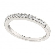 Wedding Band featuring 16 Round Brilliant Diamonds with 0.18ctw in White Gold