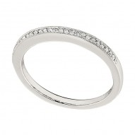 Wedding Band featuring 25 Round Brilliant Diamonds with 0.11ctw in White Gold