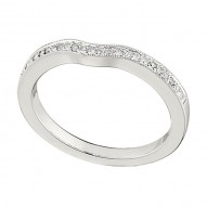 Wedding Band featuring 23 Round Brilliant Diamonds with 0.13ctw in White Gold
